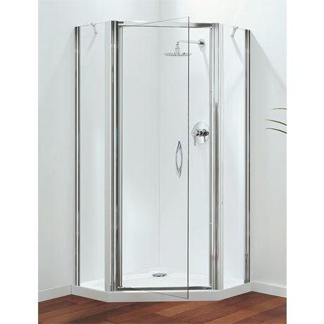 Coram Premier 900mm Pentagon Shower Enclosure Victorian Plumbing Shower Enclosure Shower Enclosure Doors Power Shower