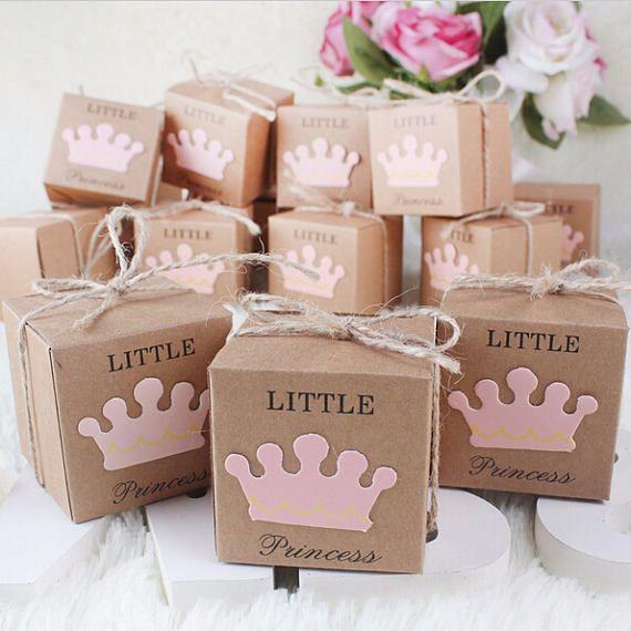 50pcs Little princess Favor Boxes Baby Shower Gift Boxes