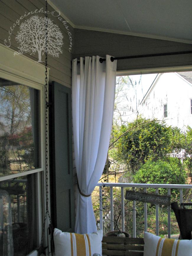 Porch Curtains | Porch curtains, Outdoor curtains, Apartment ...