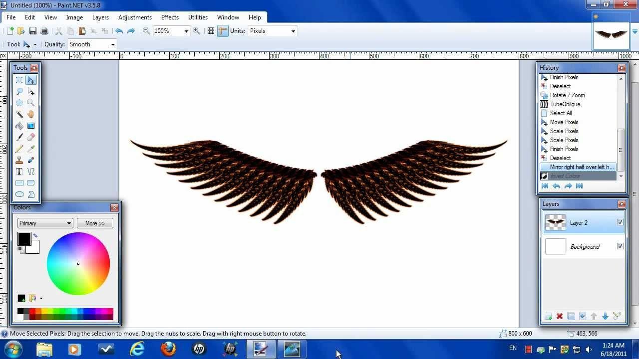 Paint.NET Tutorail How to make wings | Paint.Net Tutorials ...