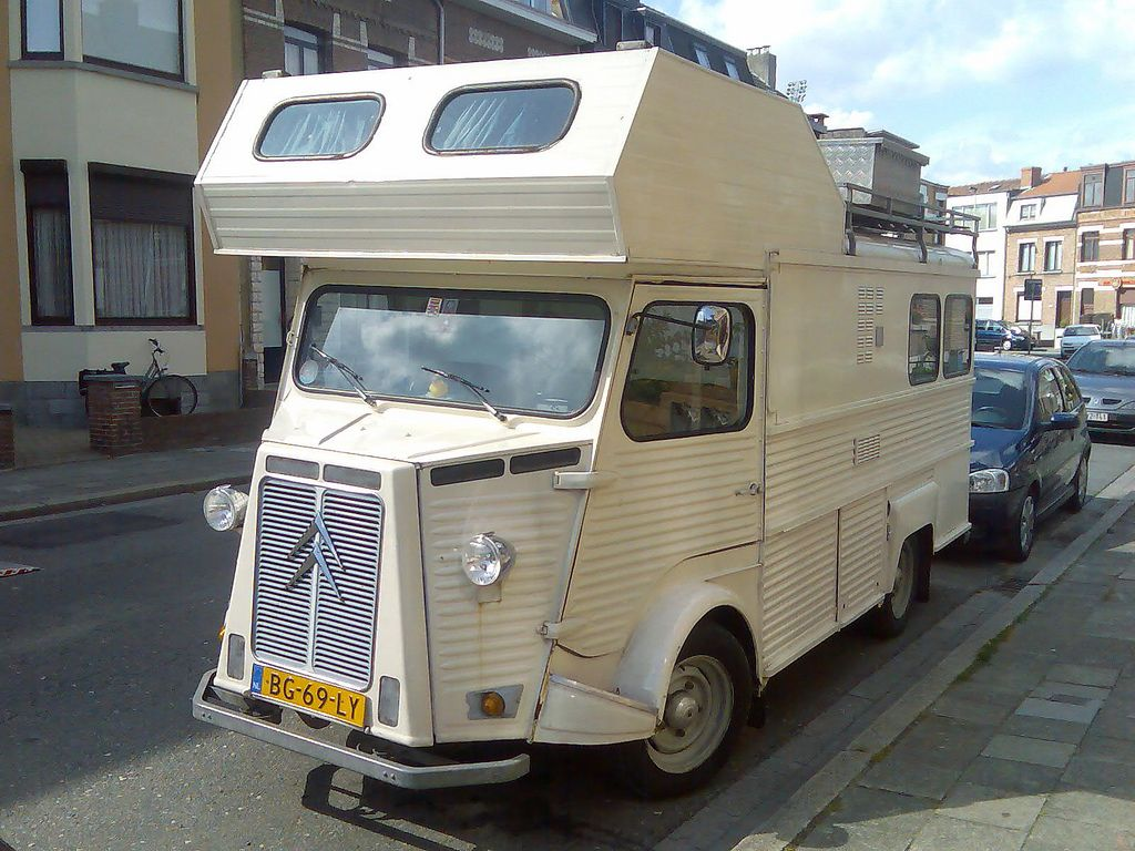 Citroën Type H Motorhome Seen In Antwerp