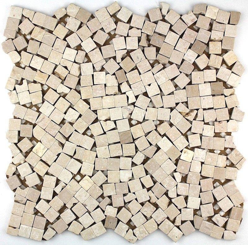 Mosaique Carrelage Pierre 1 Plaque Lulli Beige Mosaique En