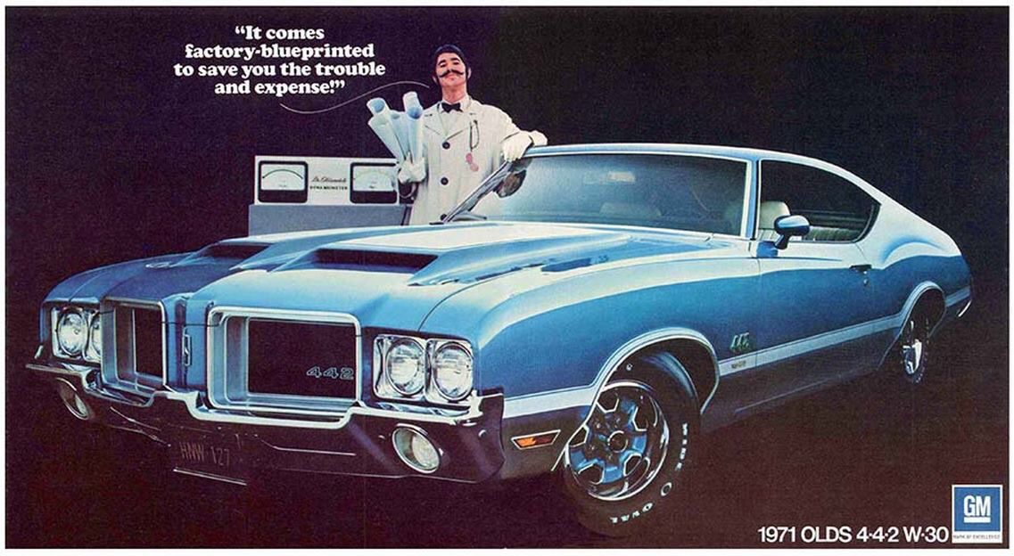 '71 Olds 442 W30 Old school muscle cars, Oldsmobile 442