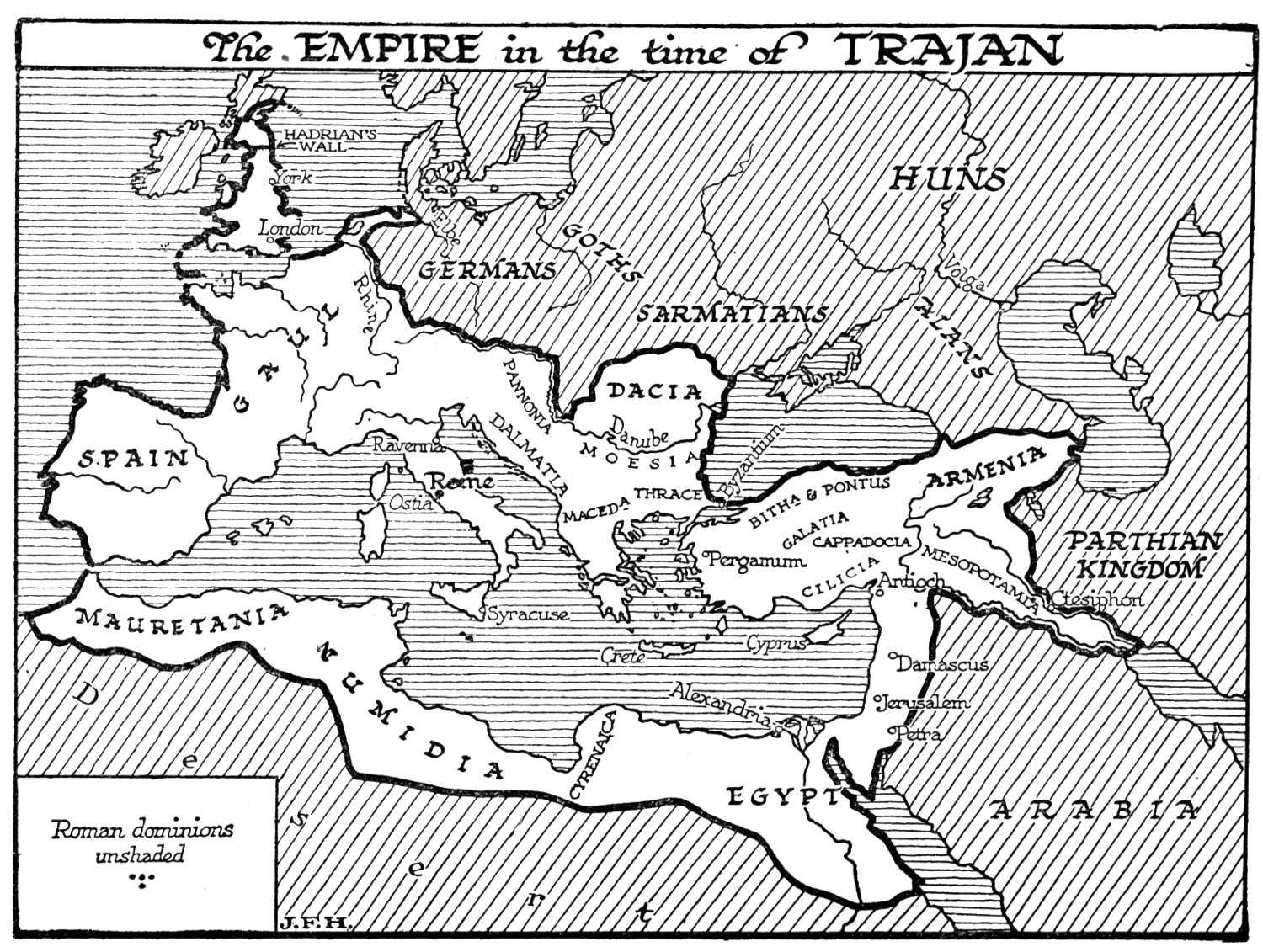 The Rich History Roman Empire in the time of Traian – Ancient Rome Map Worksheet
