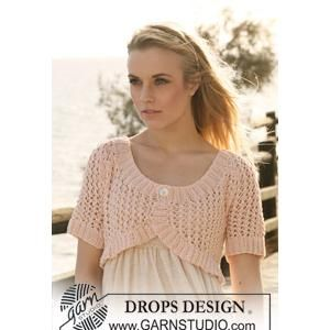 Free Knit Shrug Knitting Pattern Knitted Bolero Pattern in Lace Pattern wit...