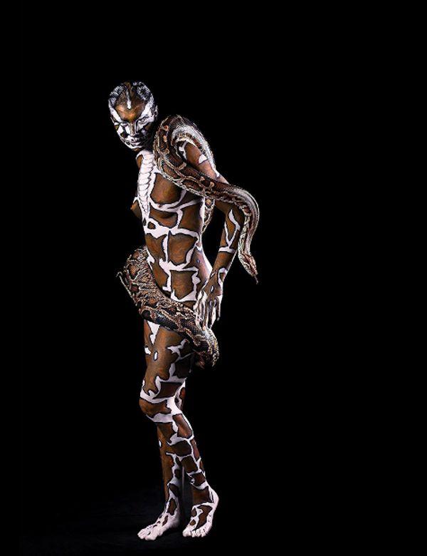 Johannes Stötter est un ancien champion du monde de body painting,© LennetteNewell.com