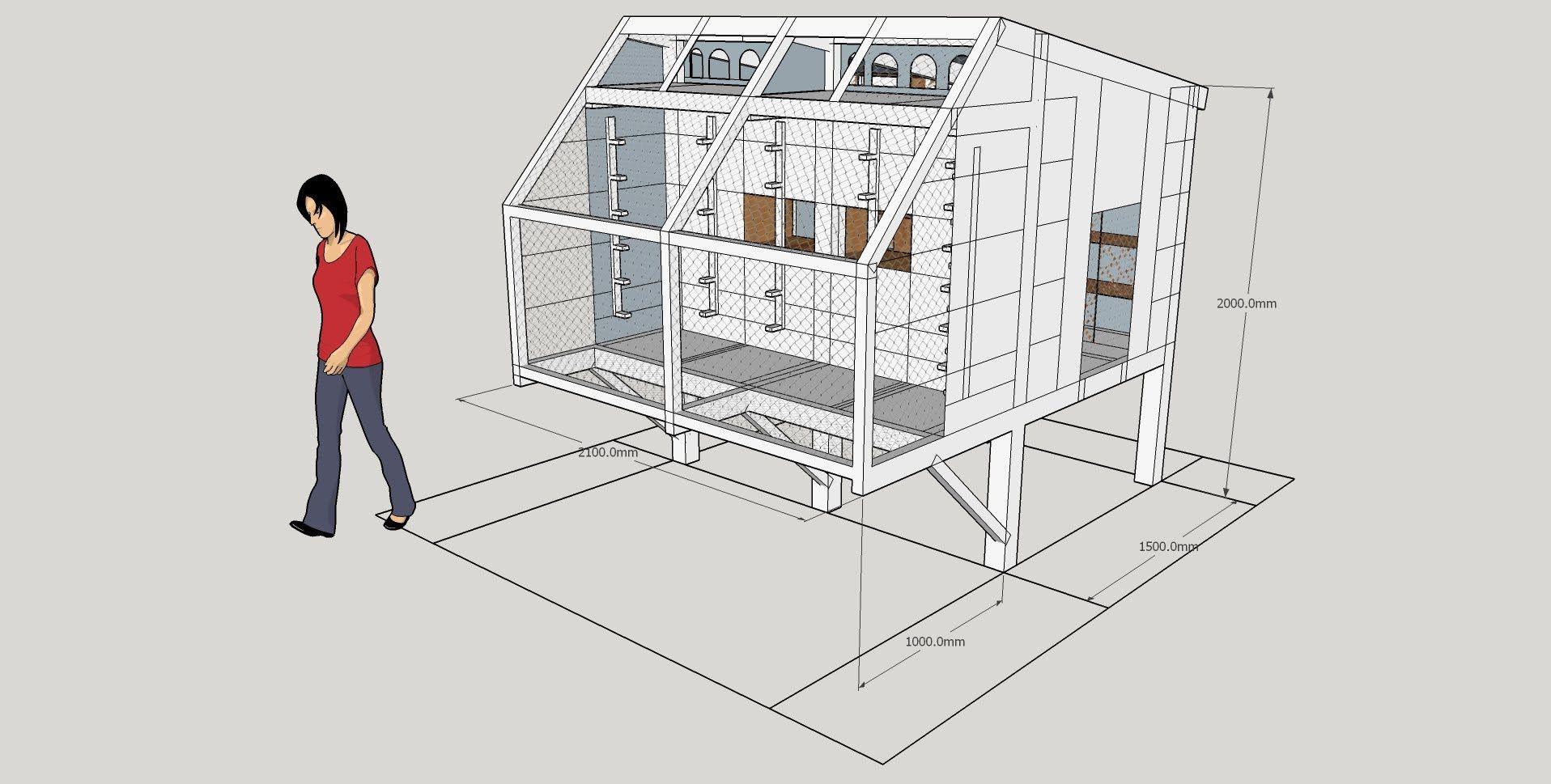 My Various Loft Designs Sketch Up Pigeon Talk Pigeon Loft Pigeon Loft Design Racing Pigeon Lofts