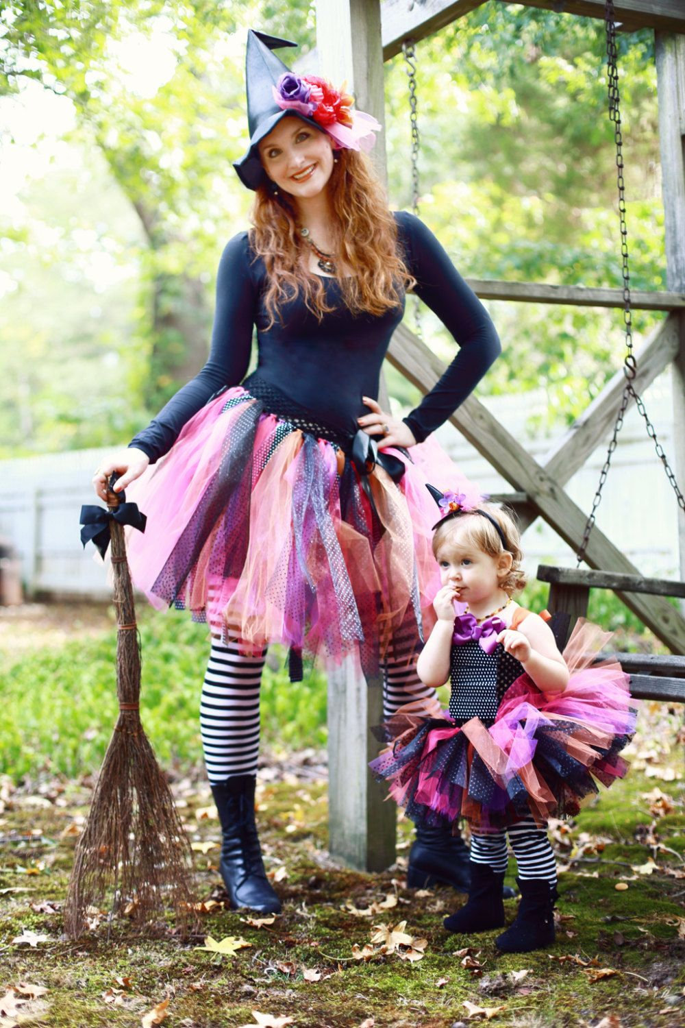 Witch Tutu, Witch Costume, Adult Witch, Baby Witch, Witch Hat, Matching Witch, Mommy and Me, Group Costumes, Adult Tutu, Halloween Tutu #uniqueitemsproducts