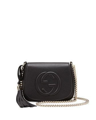 ccba047f118600 Soho Leather Chain Crossbody Bag, Black by Gucci at Neiman Marcus. Fall 2014