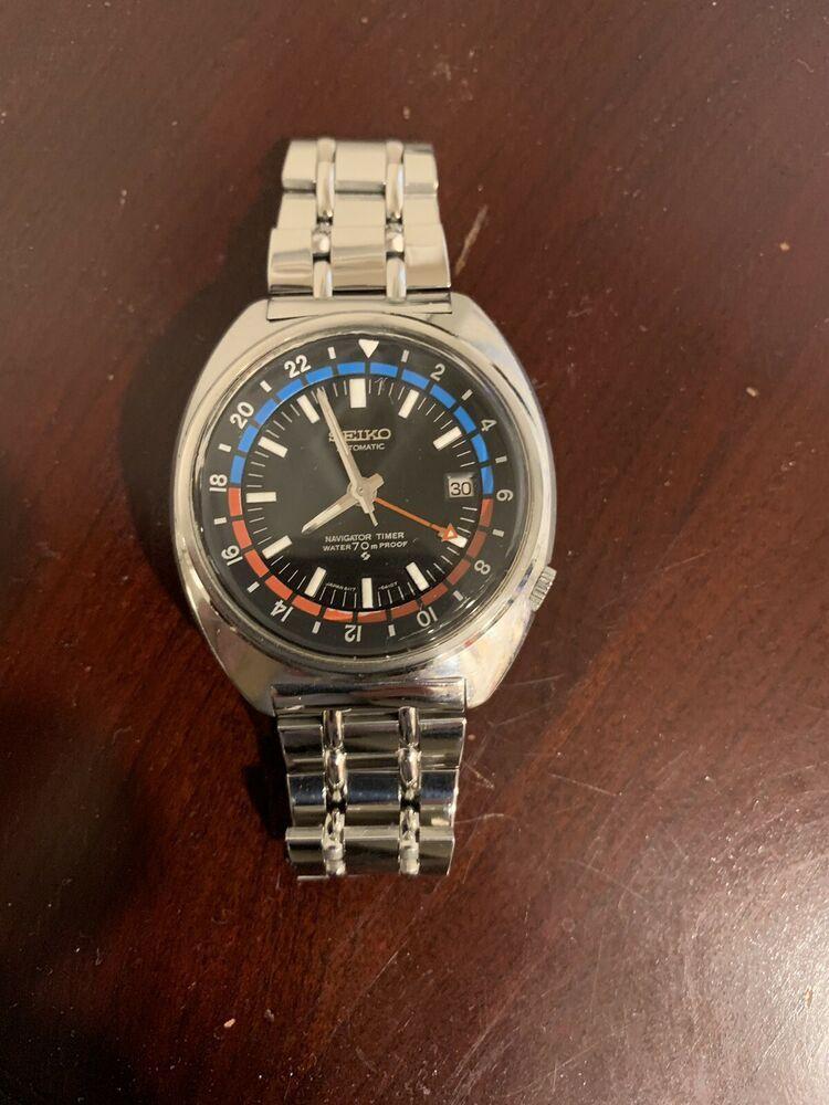 1970 Seiko Navigator Timer 6117 6410 Seiko Bracelet Watch Things To Sell