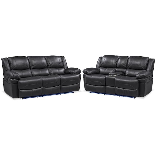 Pleasing Monza Manual Recliner Sofa And Loveseat Set Black In 2019 Creativecarmelina Interior Chair Design Creativecarmelinacom