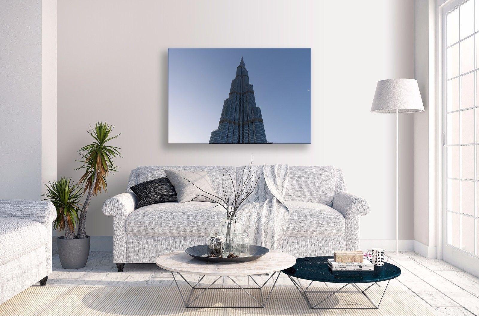 Burj kalifa canvas abstract blue sky dubai landscape wall art