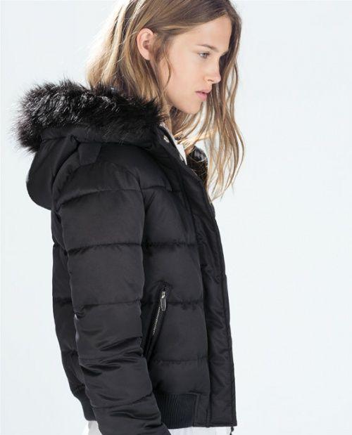 Zara Kurtka Bomber Futro 34 Xs Nowa 5913623206 Oficjalne Archiwum Allegro Hooded Bomber Jacket Zara Winter Jackets