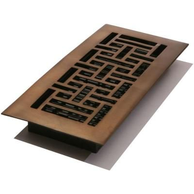 Decor Grates 4 In X 10 In Oil Rubbed Bronze Solid Brass Register Aj410 Rb At The Home Depot Brass Registers Solid Brass