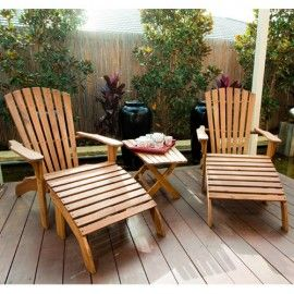 Awesome Mayotti Adirondack Chair With Footstool Outdoor Timber Gamerscity Chair Design For Home Gamerscityorg
