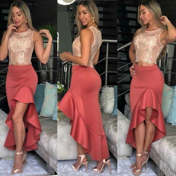 Pin de yuli eli mendoza en Aufit Pinterest Falda, Moda casual y