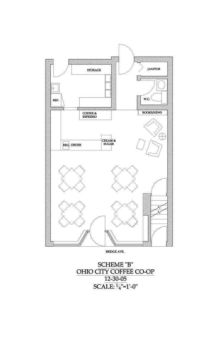 R sultat de recherche d 39 images pour small coffee shop for Coffee shop floor plan with dimensions