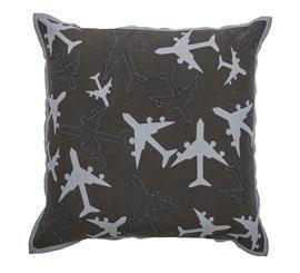 Grey Airplane Pillow - DEQOR.com