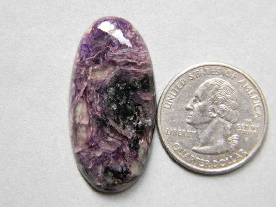 38x18 mm Charoite Gemstone Cabochon in Oval Shape Charoite