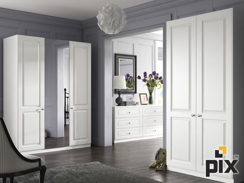 A Modern Heritage Feel In A Panelled Dressing Room White Moulded Free Standing Wardrobe With Tulips Free Standing Wardrobe Dream Bedroom Tall Cabinet Storage