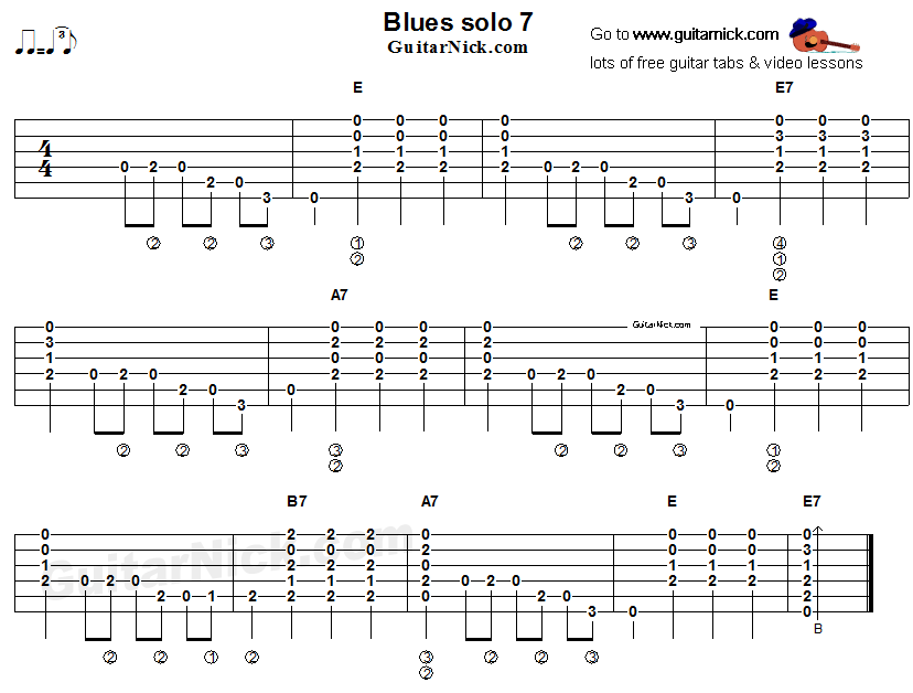 Acoustic Blues Guitar Tabs : acoustic flatpicking blues guitar solo tab 7 guitar in 2019 acoustic guitar lessons ~ Hamham.info Haus und Dekorationen