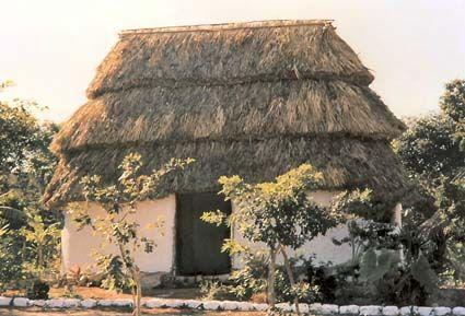 las casas de los aztecas de adobe mesoamericanas son