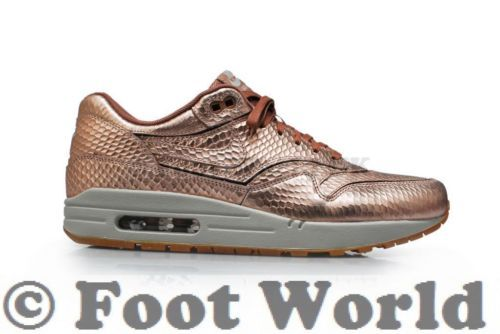 buy online bc4e4 0aa7b Womens Nike Air Max 1 Cut Out PRM  RARE  - 644398 900 - Metallic Gold in  Clothes, Shoes   Accessories, Women s Shoes, Trainers   eBay