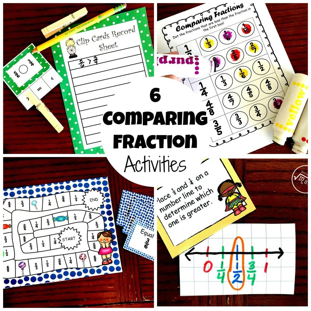 6 Comparing Fraction Activities With Images