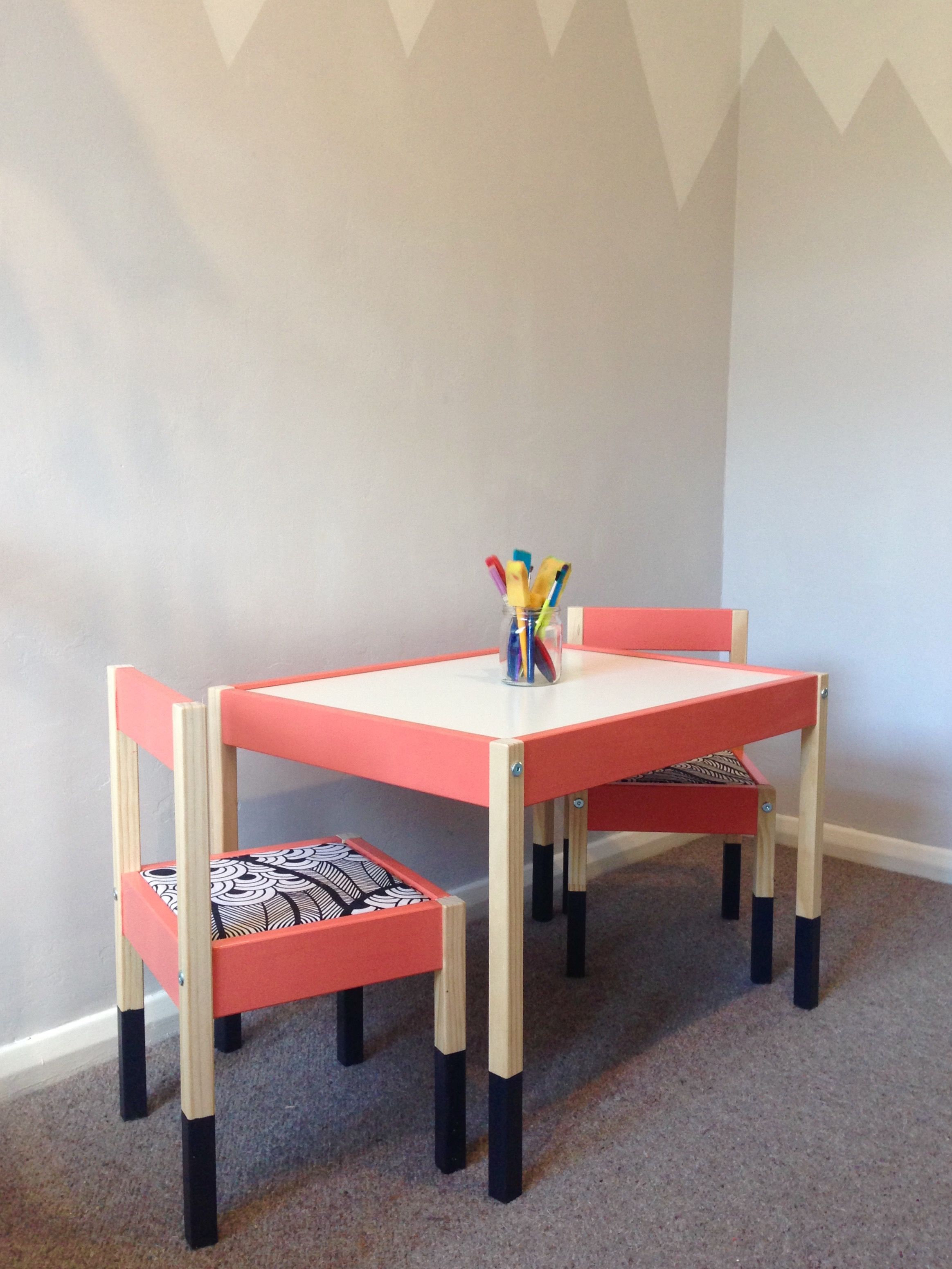 Brilliant Ikea Hack Latt Table And Chairs Paint Little Greene Gmtry Best Dining Table And Chair Ideas Images Gmtryco