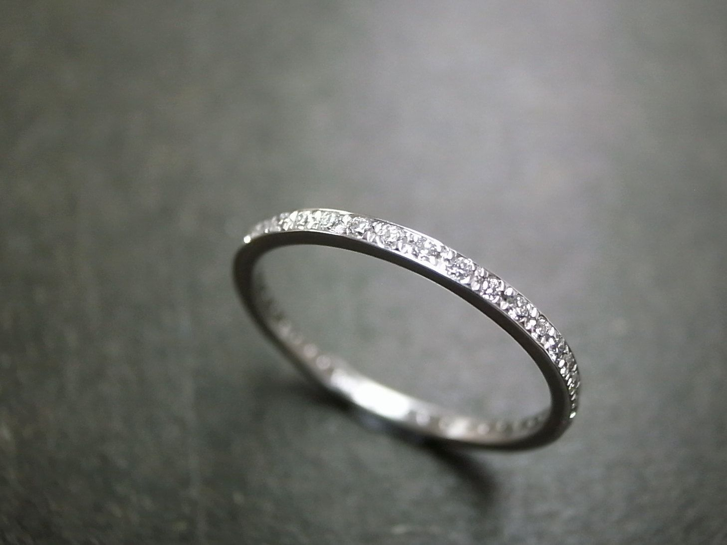 Thin Black Diamond Eternity Band