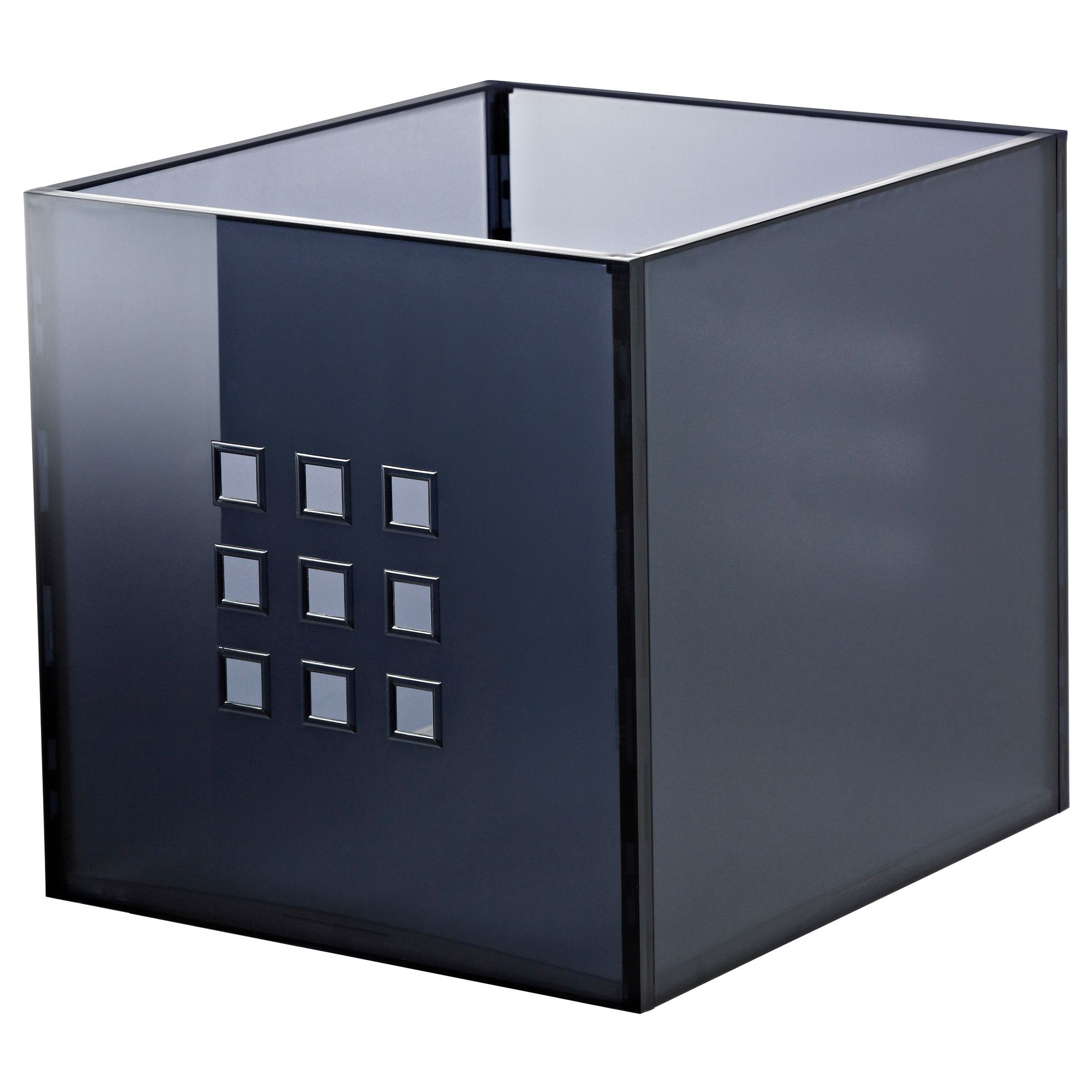"LEKMAN Box dark gray 13x14 ½x13 "" Ikea storage boxes"