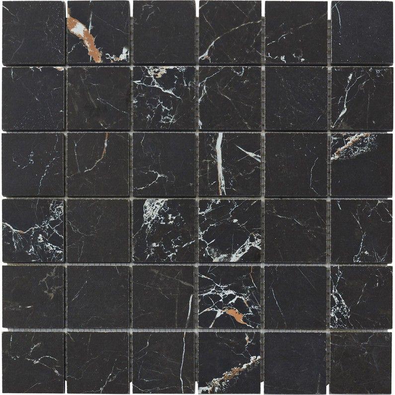 Mosaique Sol Et Mur Murano Noir Gold 5 X 5 Cm Sol Et Mur Marbre Noir Sol