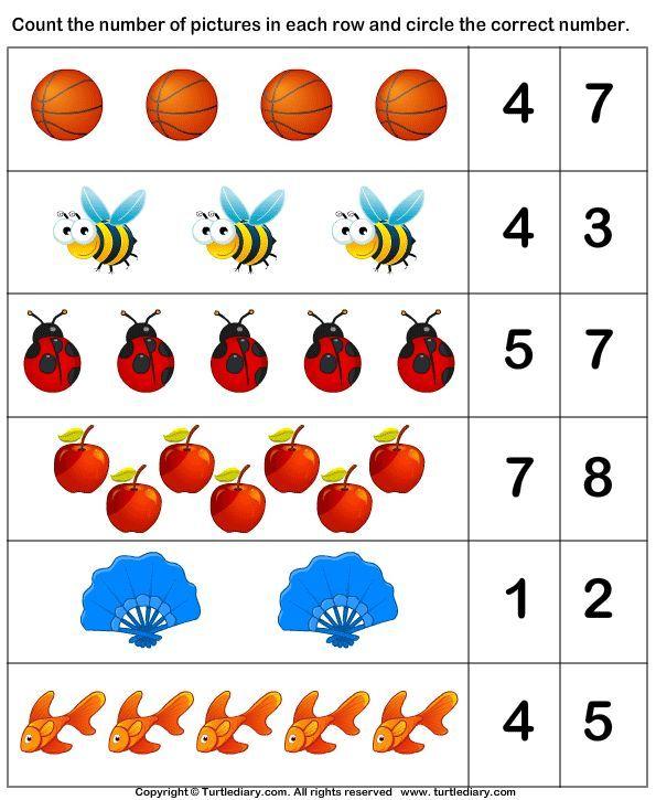 Správný počet | Maths | Pinterest | Números, Actividades y Terapia