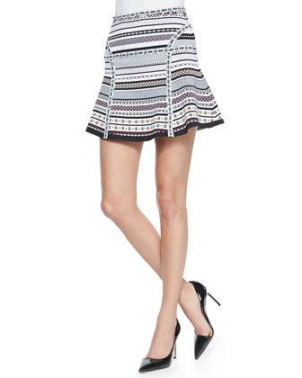 Flote Banded Dot Flounce Skirt by Diane von Furstenberg at Neiman Marcus.