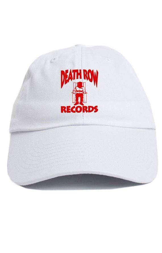 2f7c17e1d6d08 Death Row Records Custom Dad Hat Adjustable Baseball Cap New - White ...