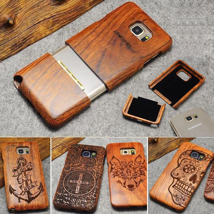 info for b3456 5cb58 Details about Natural Carving Wood Bamboo Phone Case For Samsung ...