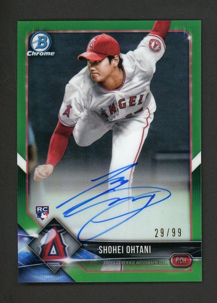 2018 Bowman Chrome Green Refractor Shohei Ohtani Angels RC ...