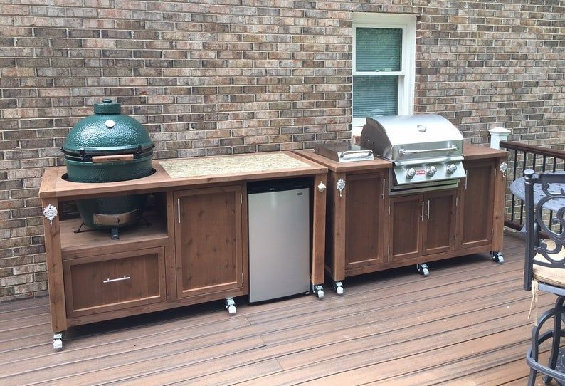 Outdoor Kitchens Mobile Grill Islands Dual Grill Tables Grill Cabinets All Customized For Your Outdoor Living Space Outdoor Kitchen Grill Table Outdoor Kitchen Design