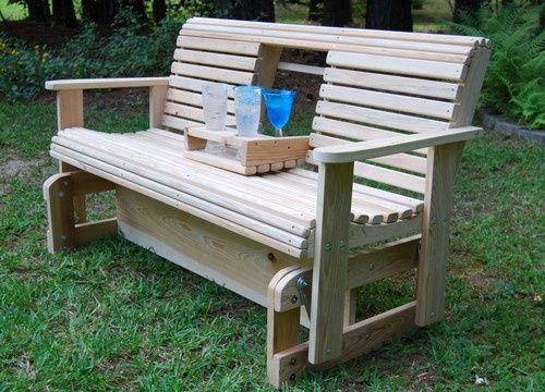 Pinning to show Joe :) Cypress Wood Wooden Porch Yard Bench Freestanding  Glider Slider Swing USA - Outdoor Wooden Glider Swing - Google Search School Pinterest