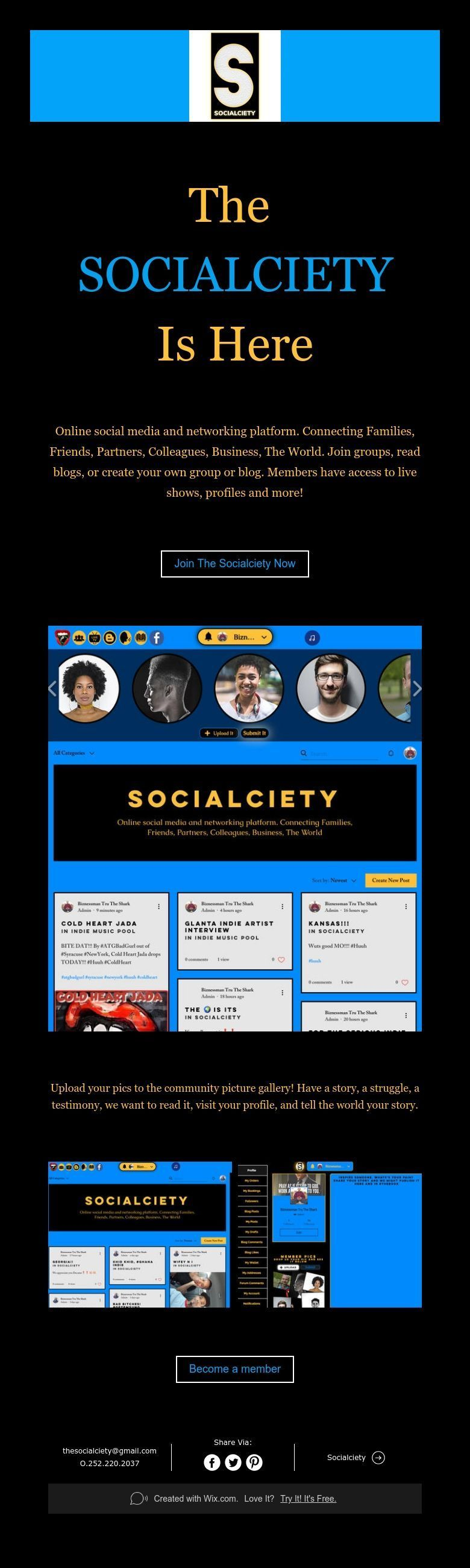 The SOCIALCIETY Is Here Social media, Connection