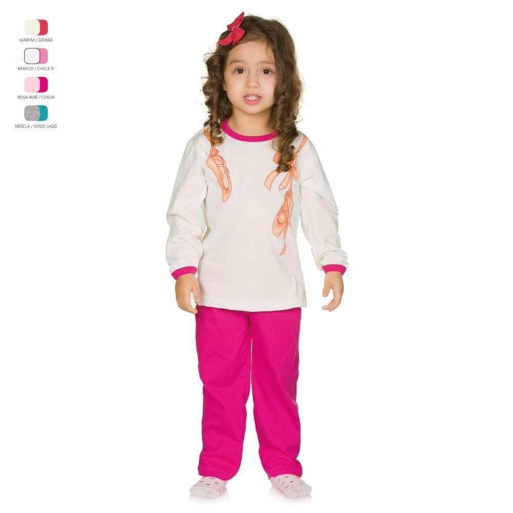 b0fc043d961419 Pijama Infantil Longo de Inverno em Meia Malha Coruja Menina   Bebês ...
