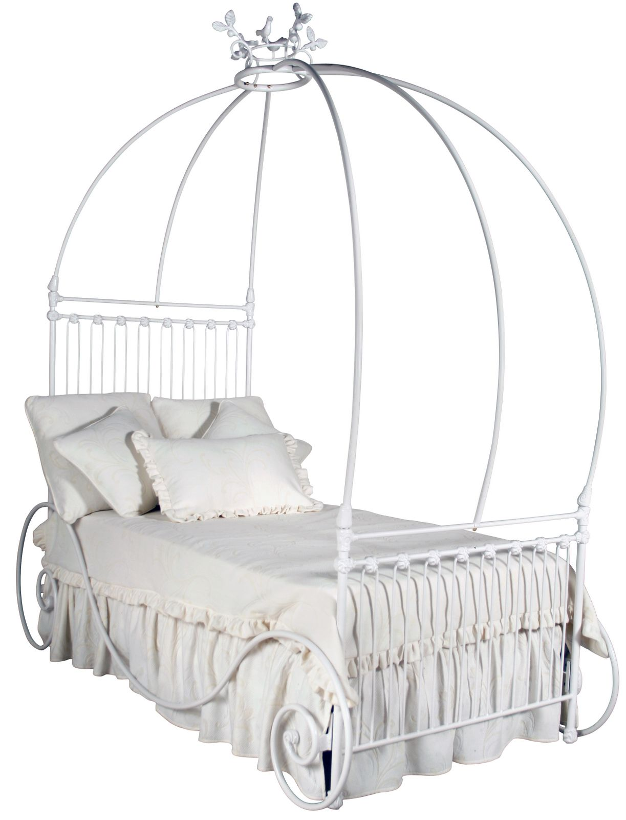 Pumpkin Princess Stage Coach Iron Canopy Bed at Jack and Jill