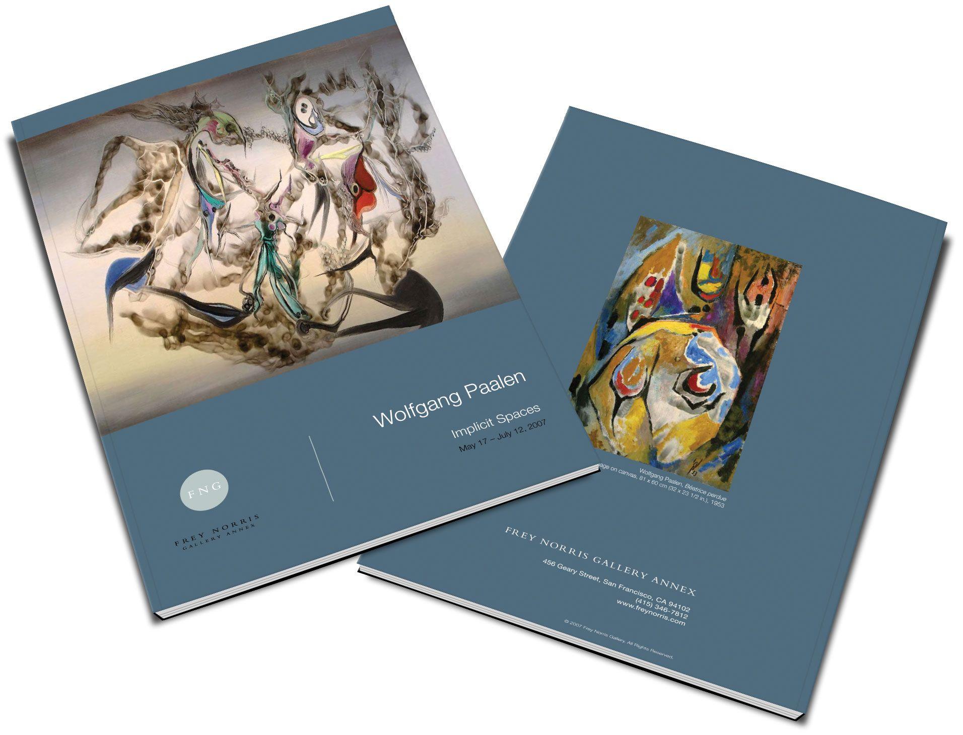 Exhibition Catalog Design  Wolfgang Paalen Exhibition Catalog