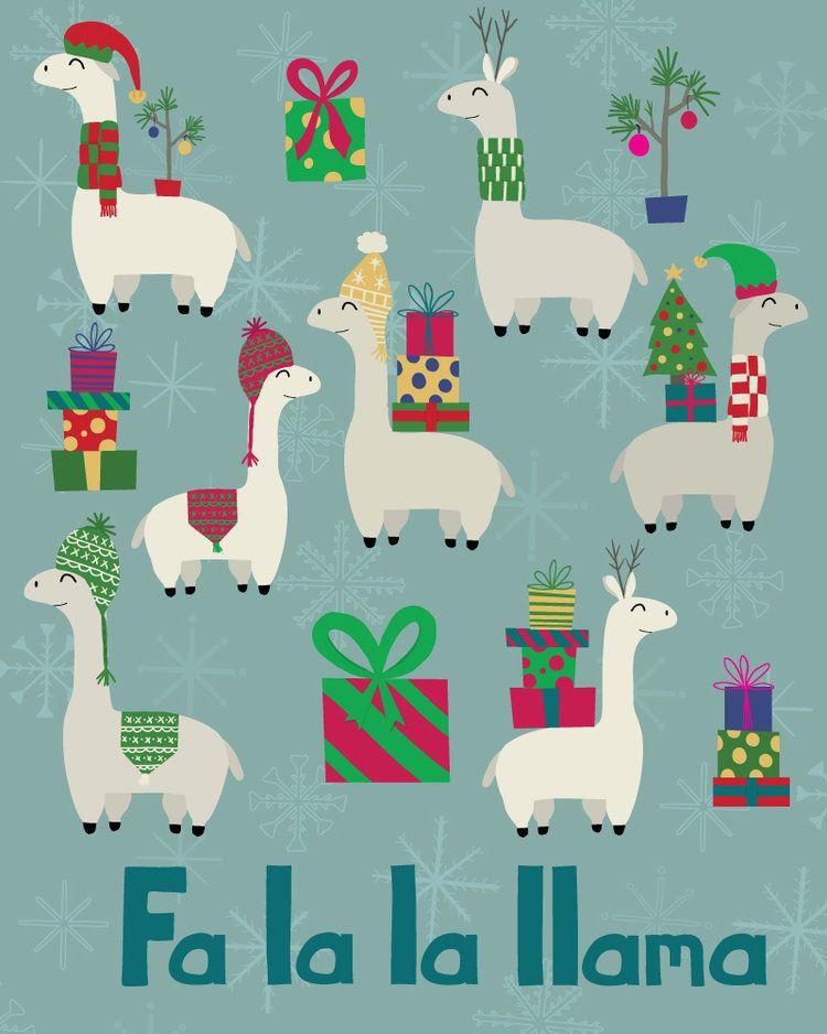 Fa La La Llama Llama Christmas Llama Decor Llama