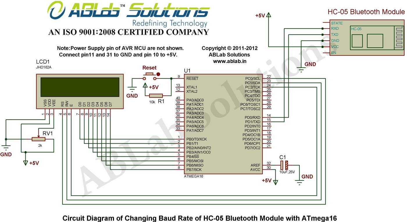 Changing Baud Rate Of Hc 05 Bluetooth Module With Avr Atmega16 Dtmf Based Robo Car Design Circuit Using 8051 Microcontroller Diagram