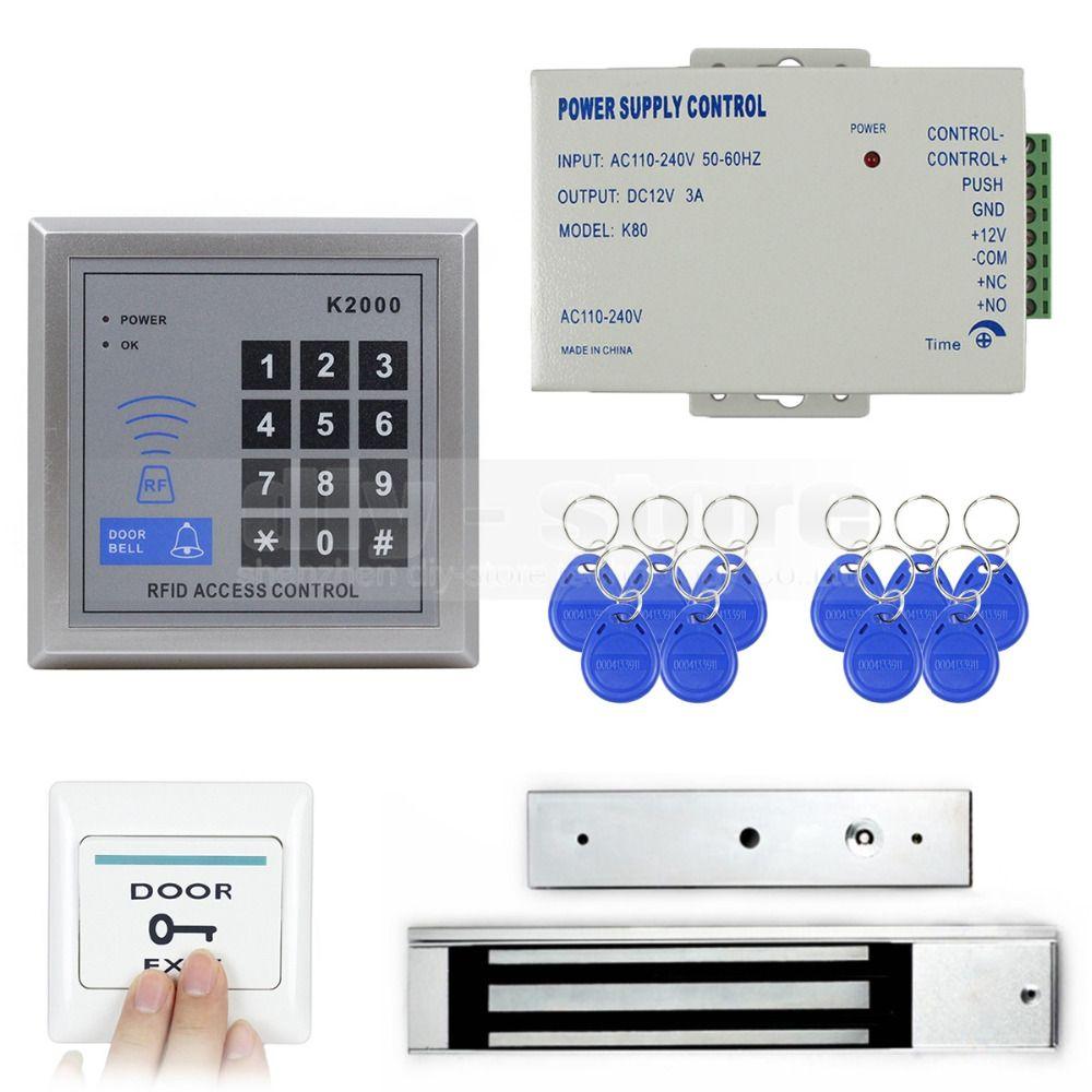Diysecur Full Complete 125khz Rfid Card Reader Keypad Door Access Control Kit 280kg Magnetic Lock Access Control Card Reader Control