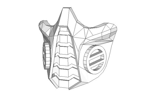 Respirator Mask Papercraft Ver.2 Free Template Download