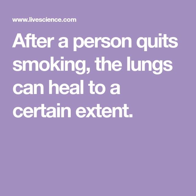 Do Smokers' Lungs Heal After They Quit? | HealthyChoices