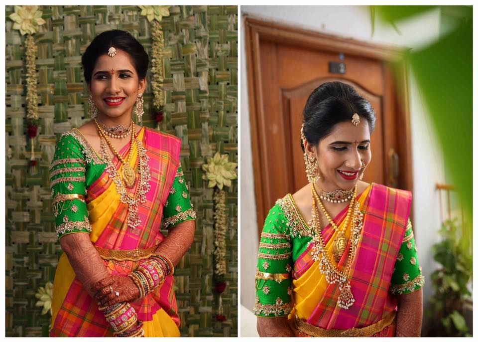 Bride akshitha in Issa signature blouse for one of her wedding events!!