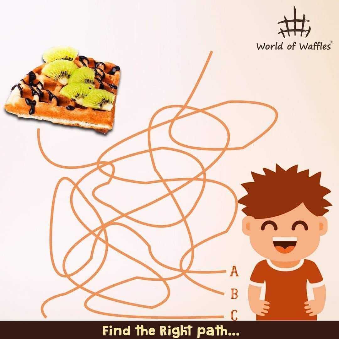 Find the Right Path.... Love will find a way! Find your way to your eternal love of waffles at